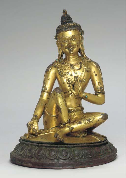 A Gilt Bronze Figure of Mahasi