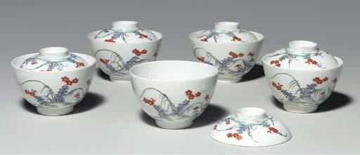 Five Porcelain Covered Bowls