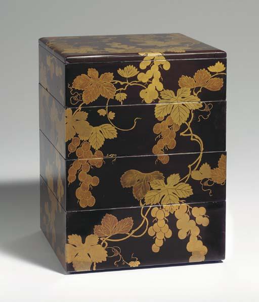 A Four-Tier Lacquer Box (Jubak
