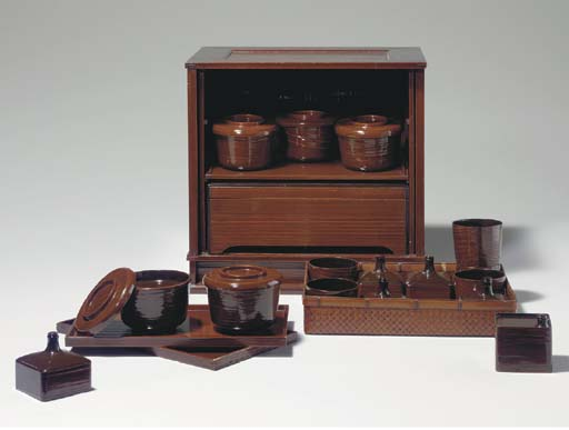 A Lacquer Picnic Set for Soba