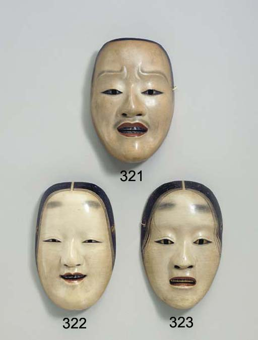 Noh Mask of Deigan (Gold-paint
