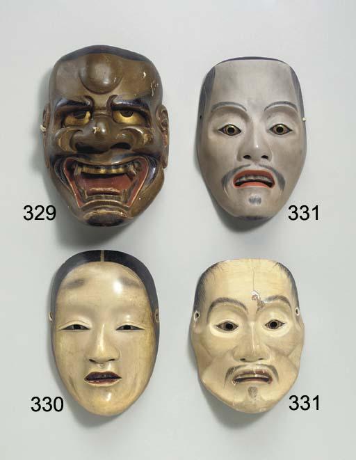 Noh Mask of Kawazu Noh Mask of