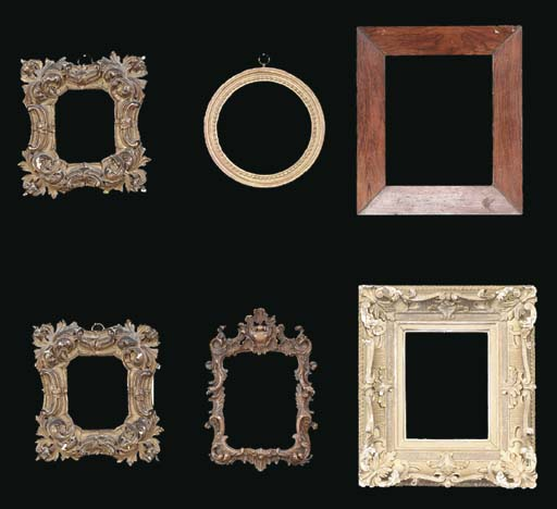 A GROUP OF SIX FRAMES