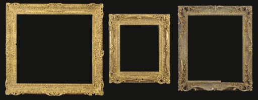 A GROUP OF THREE CARVED FRAMES