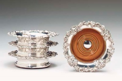 A SET OF FOUR SHEFFIELD-PLATED