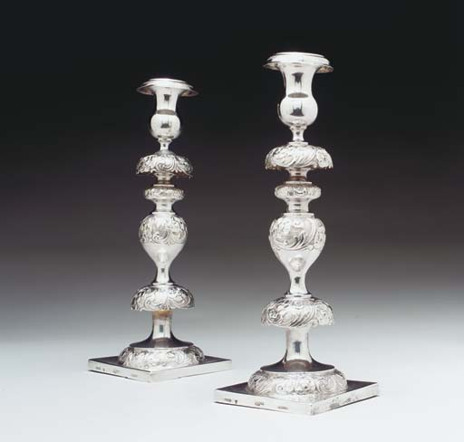 TWO PAIRS OF POLISH SILVER CAN