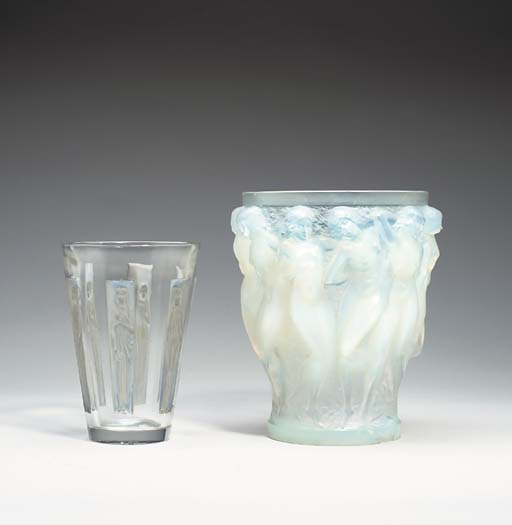 A LALIQUE 'BACCHANTES' FROSTED