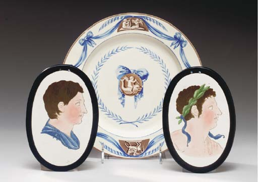 TWO STAFFORDSHIRE PEARLWARE PO