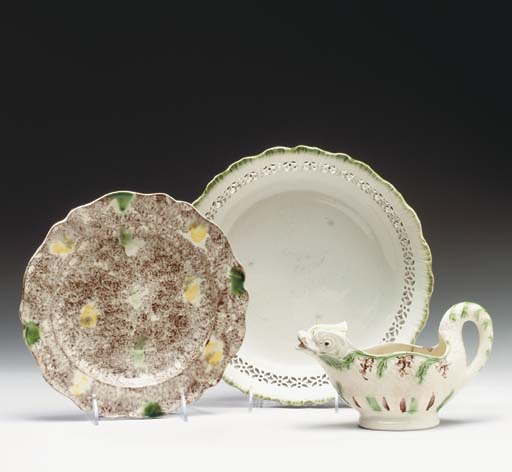 A GROUP OF STAFFORDSHIRE TABLE