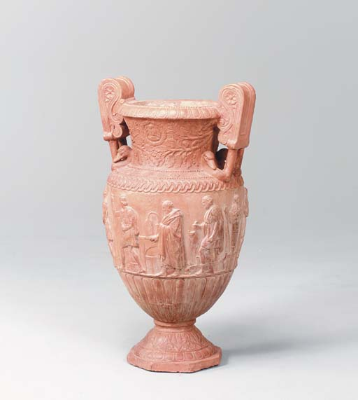 A TERRACOTTA VASE AFTER THE AN
