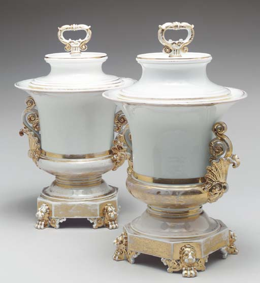 A PAIR OF JACOB PETIT PORCELAI