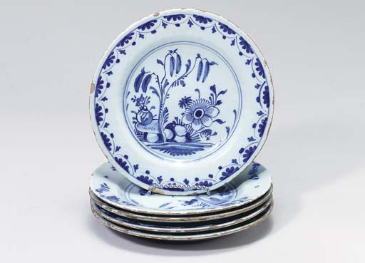 FIVE DELFT PLATES,