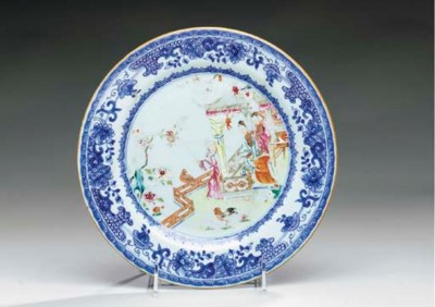 A CHINESE EXPORT PORCELAIN PLA