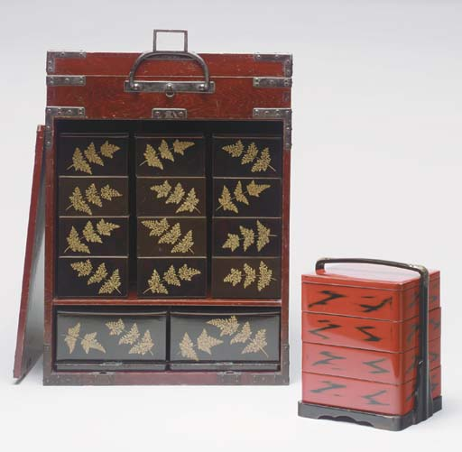 A GROUP OF TWO PICNIC SETS TOG