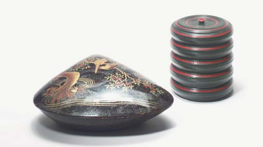 A GROUP OF THREE LACQUER BOXES