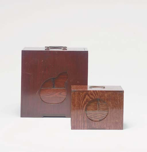 TWO WOOD PICNIC SETS,