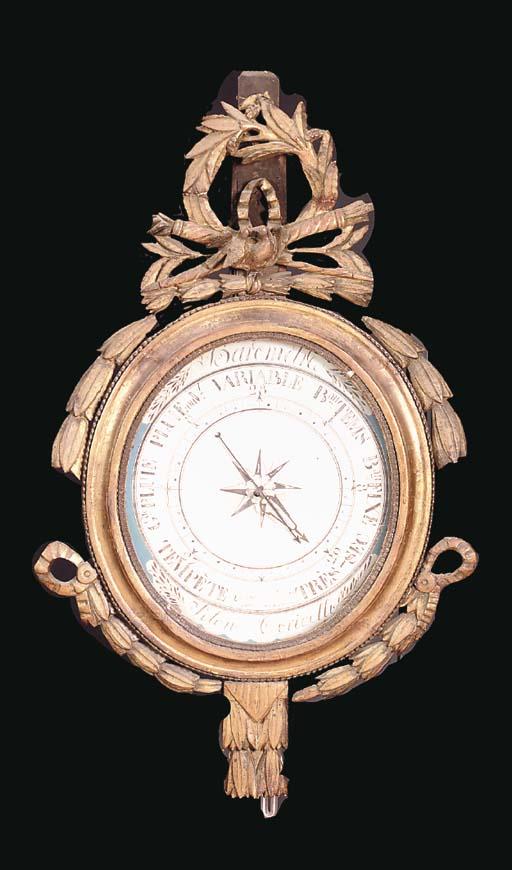 A LATE LOUIS XVI GILTWOOD BARO