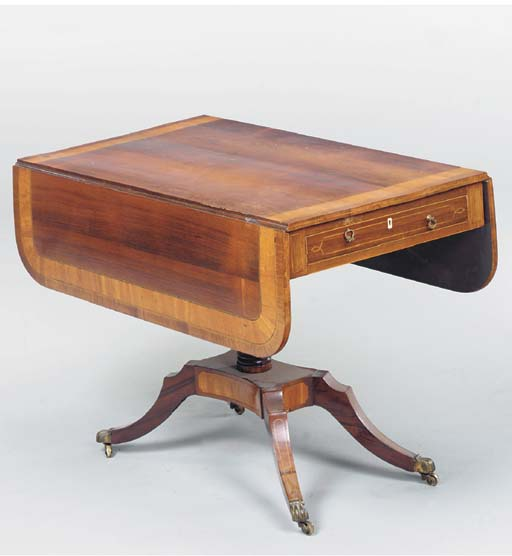 A REGENCY STYLE ROSEWOOD AND S