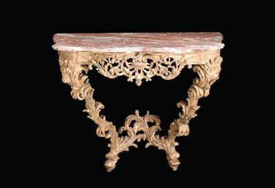 A PAIR OF REGENCE STYLE CARVED
