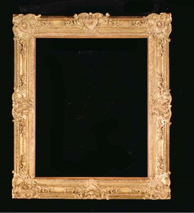 A RECTANGULAR CARVED GILTWOOD