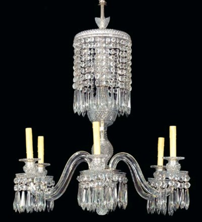 A REGENCY STYLE CUT-GLASS SIX-