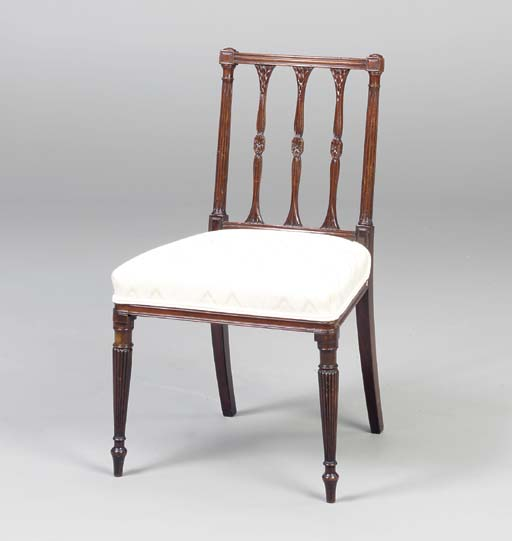 A GEORGE III MAHOGANY SIDE CHA
