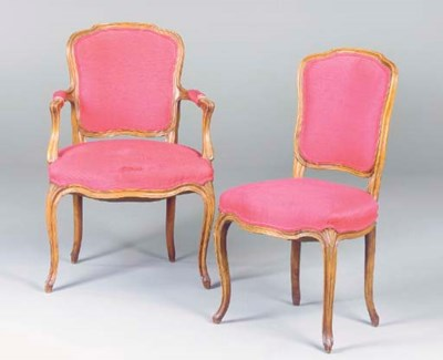 A GROUP OF THREE LOUIS XV STYL