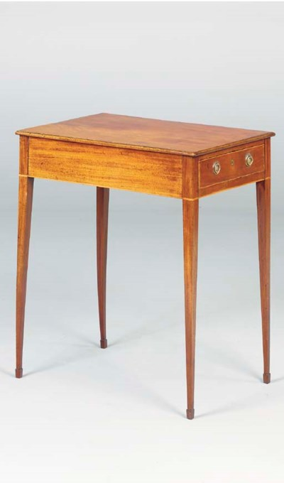 A FEDERAL MAHOGANY SIDE TABLE,