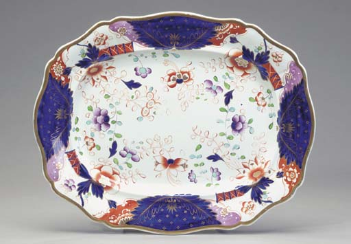 AN IRONSTONE PLATTER TOGETHER