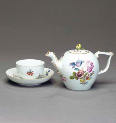 A MEISSEN PORCELAIN PART TEA S