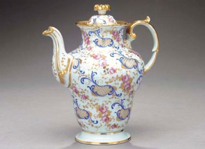 A CONTINENTAL PORCELAIN COFFEE