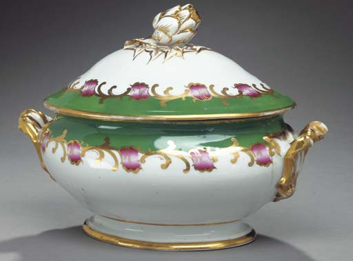 A PARIS PORCELAIN TWO-HANDLED