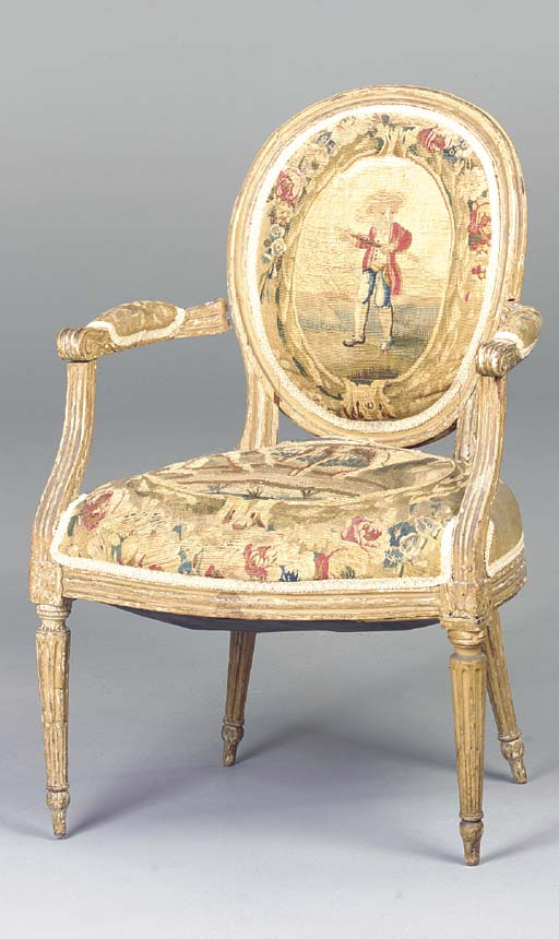 A LOUIS XVI PAINTED BEECHWOOD