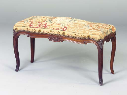 A LOUIS XV STYLE WALNUT AND NE