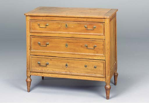 A DIRECTOIRE FRUITWOOD COMMODE