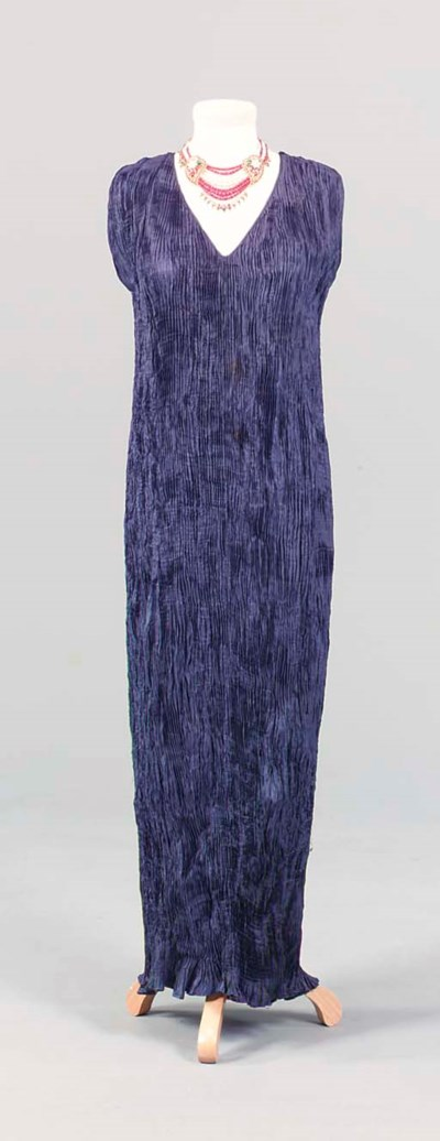 A FORTUNY STYLE EVENING DRESS