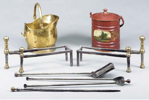 A PAIR OF REGENCY BRASS AND ST