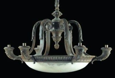 A LOUIS PHILIPPE STYLE ALABAST