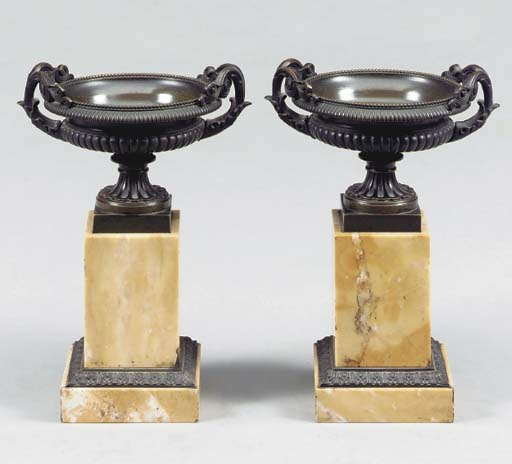 A PAIR OF CHARLES X PATINATED