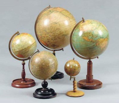 A GROUP OF SEVEN GLOBES,