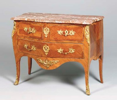 A LOUIS XV TULIPWOOD AND KINGW