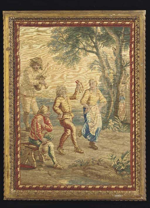 A BRUSSELS TENIERS TAPESTRY PA