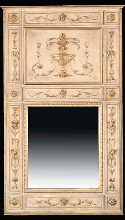 A LOUIS XVI STYLE CREAM-PAINTE