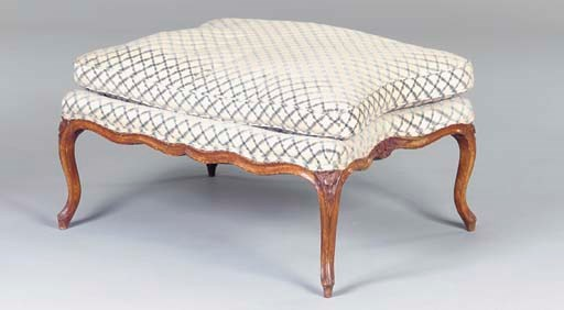 A LOUIS XV STAINED AND CARVED