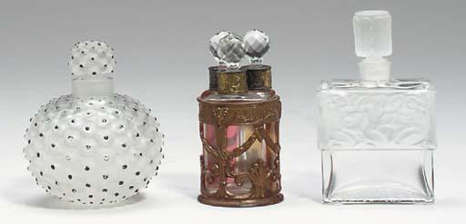 A GROUP OF SIX GLASS PERFUME B