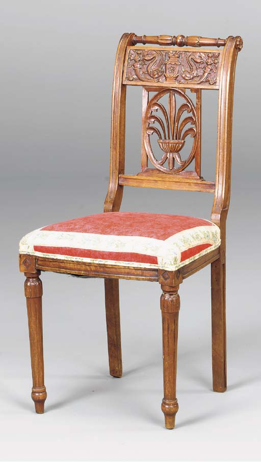 A PROVINCIAL FRENCH SIDE CHAIR