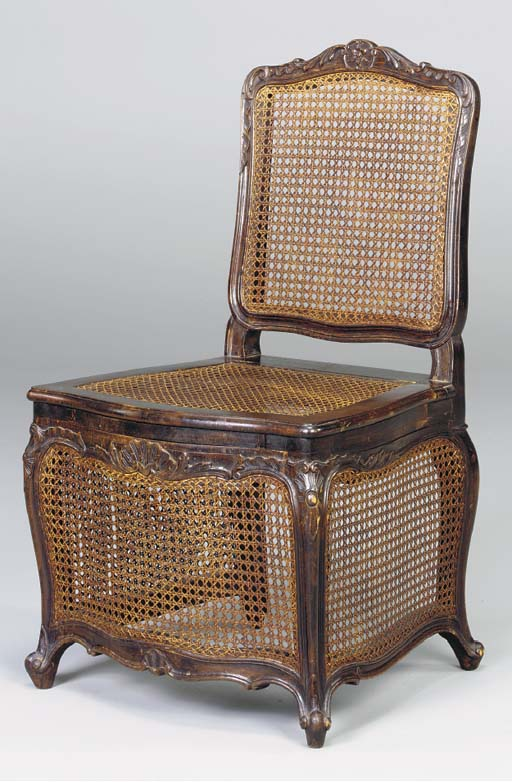 A LOUIS XV STYLE CANED SEAT CO