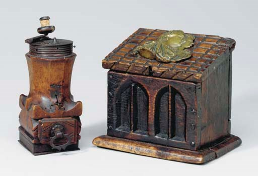 A PROVINCIAL CARVED SALTBOX TO