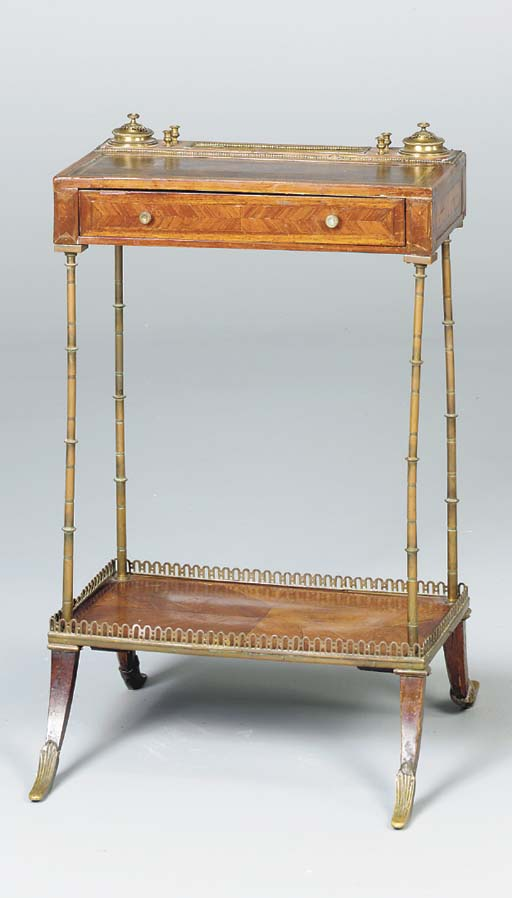 A LOUIS XVI ROSEWOOD WRITING T