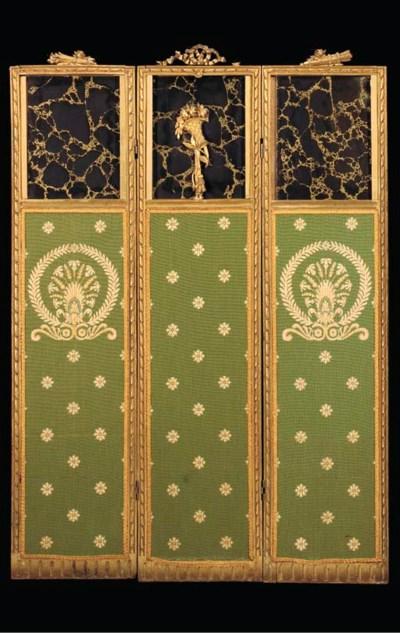 A LOUIS XVI STYLE CARVED GILTW